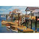 Puzzle  Cobble-Hill-50704 Sommer am Pier