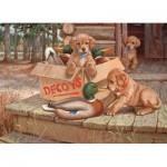 Puzzle  Cobble-Hill-51673 Jim Lamb: Köder für Wauwau