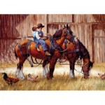 Puzzle  Cobble-Hill-51708 Jim Daly: Zurück an der Scheune