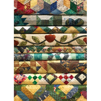 Puzzle Cobble-Hill-51726 Großmutters Quilts