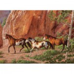 Puzzle  Cobble-Hill-51732 Chris Cummings: Der Canyon der Pferde