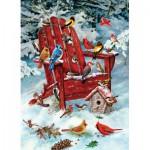 Puzzle  Cobble-Hill-51735 Greg Giordano: Vögel auf dem Gartenstuhl
