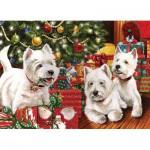 Puzzle  Cobble-Hill-51747 Unter dem Weihnachtsbaum
