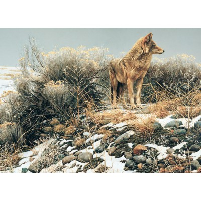 Puzzle Cobble-Hill-51768 Robert Bateman: Coyote im Winter
