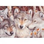 Puzzle  Cobble-Hill-51791 Das Wolfsrudel