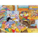 Puzzle  Cobble-Hill-51792 Schlaue Kätzchen