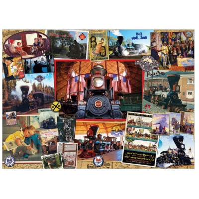 Puzzle Cobble-Hill-51798 Die Eisenbahn von Baltimore und Ohio