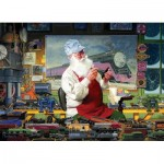 Puzzle  Cobble-Hill-51813 Tom Newsom - Santa's Hobby