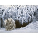 Puzzle  Cobble-Hill-51828 Robert Bateman - Dozing Lynx