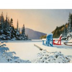 Puzzle  Cobble-Hill-52039 XXL Teile - Douglas Laird: Adirondack Winter