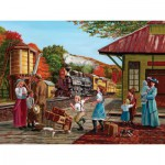 Puzzle  Cobble-Hill-52041 XXL Teile - Warten auf den Zug
