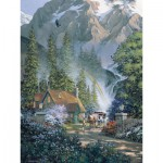Puzzle  Cobble-Hill-52045 XXL Teile - Douglas Laird: Mountain Hideaway