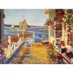 Puzzle  Cobble-Hill-52054 XXL Teile - USA - John Atwater: Der Angelklub von Nantucket