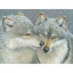Puzzle  Cobble-Hill-52087 XXL Teile - Kathy Goff - Wolf Kiss