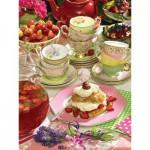 Puzzle  Cobble-Hill-52095 XXL Teile - Strawberry Tea