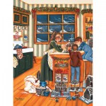 Puzzle  Cobble-Hill-54329 XXL Teile - Shelley McVittie: Lebkuchenhäuser