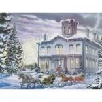 Puzzle  Cobble-Hill-54333 XXL Teile - Kanada - Lance Russwurm: Weihnachten in Kilbride