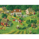 Puzzle  Cobble-Hill-54340 XXL Teile - Charlotte Joan Sternberg: Back Yards