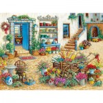 Puzzle  Cobble-Hill-54344 XXL Teile - Janet Kruskamp - Fancy Flower Shop