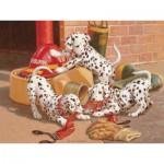 Puzzle  Cobble-Hill-54577 Jim Lamb: Dalmatiner-Feuerwehr