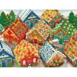 Puzzle  Cobble-Hill-54582 Lebkuchenhäuser