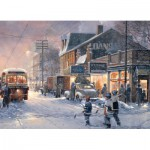 Puzzle  Cobble-Hill-57174 Hockey Night