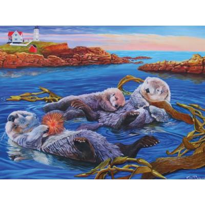 Puzzle Cobble-Hill-58853 Der Mittagsschlaf der Meerotter