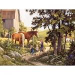 Puzzle   XXL Teile - Douglas Laird - Summer Horses