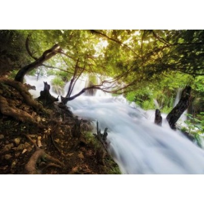 Puzzle Tactic-40901 Wasserfall im Wald