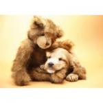 Puzzle  Tactic-40912 Ein Welpe und Teddybär
