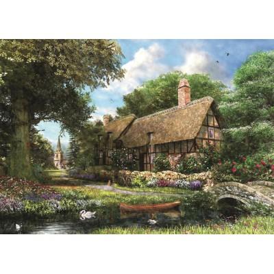 Puzzle Jumbo-11017 Dominic Davison: Around Britain - Riverbank Cottage, Derbyshire