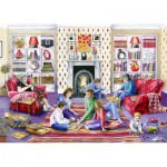 Puzzle  Jumbo-11023 Val Goldfinch: Family Games Night