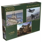 Jumbo-11039 3 Puzzles - By Sea, Land and Air
