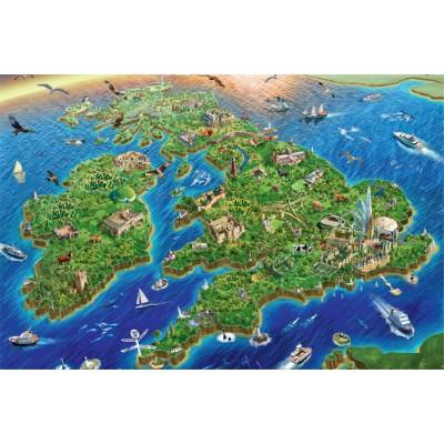 Puzzle Jumbo-11047 Map of United Kingdom and Ireland