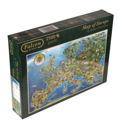 Puzzle Jumbo-11057 Europakarte