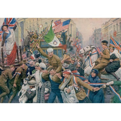 Puzzle Jumbo-11061 Fortunino Matania: Armistice Celebrations