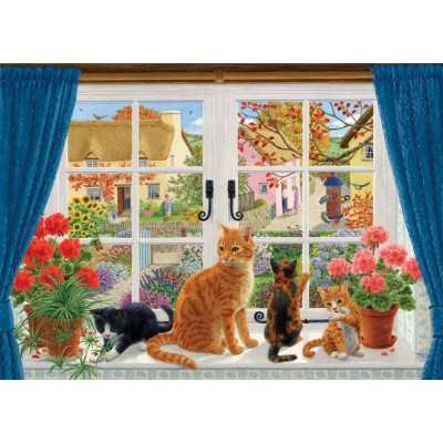 Puzzle Jumbo-11064 Sarah Adams: Through the Cottage Window