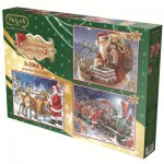 Jumbo-11069 Christmas Collection 2 - 3 Puzzles 1000 Teile