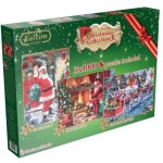 Jumbo-11096 3 Puzzles - Christmas Collection 3