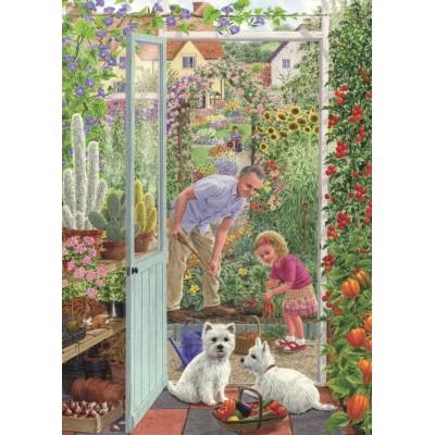 Puzzle Jumbo-11115 Sarah Adams - Through the Greenhouse Door