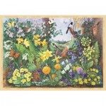 Puzzle  Jumbo-11137 XXL Teile - Anne Searle - Spring Hedgerow