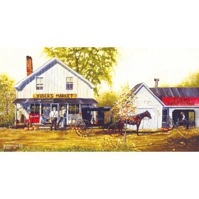 Puzzle Sunsout-27861 Dave Barnhouse: Yoder's Market
