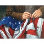 Puzzle  Sunsout-47620 Jack E. Dawson: Amerikanische Flagge