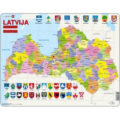 Larsen-A10 Rahmenpuzzle - Lettland