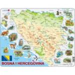 Larsen-A20 Rahmenpuzzle - Bosnien und Herzegowina und seine Tiere (auf Bosnisch)