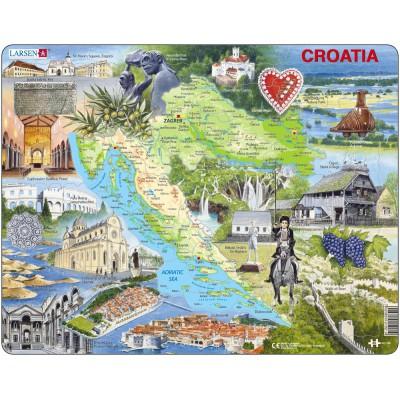 Larsen-A21 Rahmenpuzzle - Kroatien und seine Sehenswürdigkeiten