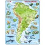 Larsen-A25-GB Rahmenpuzzle - Südamerika (auf Englisch)