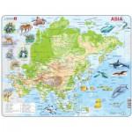 Larsen-A30-2 Rahmenpuzzle - Asien (auf Englisch)