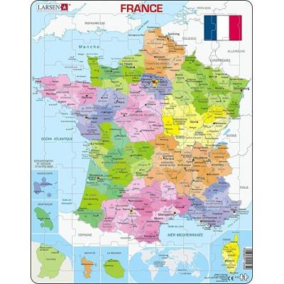 Larsen-A5-FR Rahmenpuzzle - Frankreichkarte