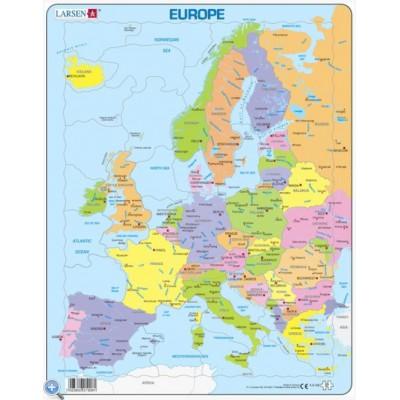 Larsen-A8-2 Rahmenpuzzle - Europa (auf Englisch)